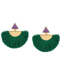 Katerina Makriyianni Pendientes con flecos - Verde