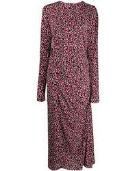 N°21 Присборенное Платье С Леопардовым Принтом И Кулиской - Многоцветный
