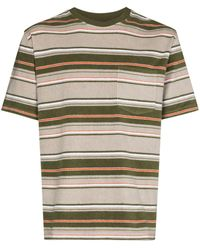 Beams Plus T-shirt a righe - Grigio