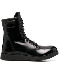 Emporio Armani コンバットブーツ - ブラック