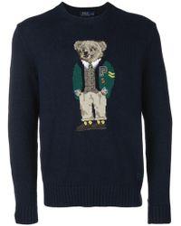 Motif Motif Bear Sweater Motif Sweater Bear Blue Bear Sweater Blue Blue ZPkiXu