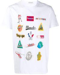 Moncler Camiseta con logo estampado - Blanco