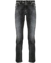 PT01 Distressed-effect Mid-rise Slim-fit Jeans - Black