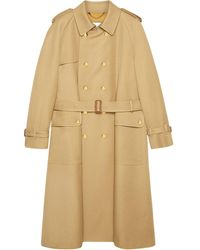 Gucci Double-breasted Trench Coat - Natural
