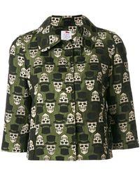 Ultrachic - Cropped Skull Print Jacket - Lyst