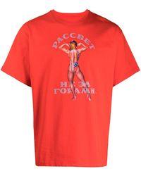 Rassvet (PACCBET) ロゴ Tシャツ - レッド