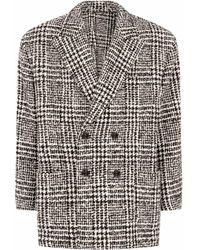 Dolce & Gabbana Двубортное Пальто В Ломаную Клетку - Белый