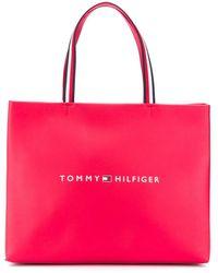 Tommy Hilfiger Сумка-тоут С Логотипом - Розовый