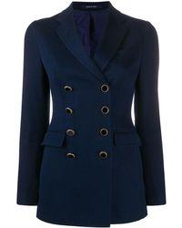 Tagliatore J-Alyx double-breasted blazer - Azul