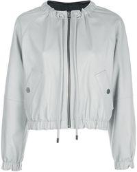 PROENZA SCHOULER WHITE LABEL Куртка С Кулиской На Воротнике - Серый