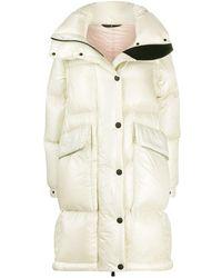 3 MONCLER GRENOBLE Detachable-sleeve Down Coat - Natural