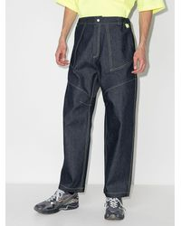 Paria Farzaneh Contrast-stitch Wide-leg Jeans - Blue
