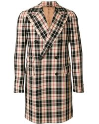 Gabriele Pasini - Checked Double-breasted Coat - Lyst