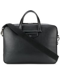 Jimmy Choo Knox Rectangular Briefcase - Black