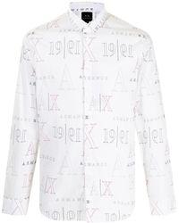 Armani Exchange ロゴ シャツ - ホワイト