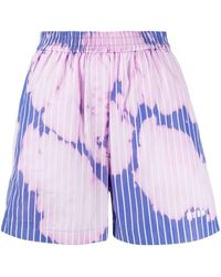 MSGM - Bleached Effect Shorts - Lyst