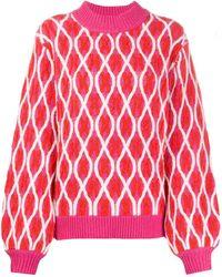 Stine Goya Long Sleeve Anders Sweater - Pink