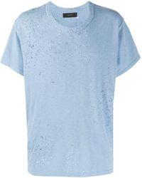 Amiri T-Shirt in Distressed-Optik - Grün