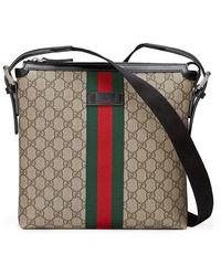 620b8ccef774e6 Gucci Web Techno Canvas Small Messenger Bag Black for Men - Lyst