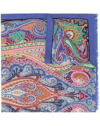 Etro Sciarpa Delhy スカーフ - ブルー
