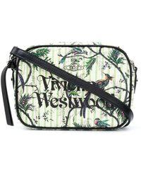 Vivienne Westwood ロゴ ショルダーバッグ - グリーン