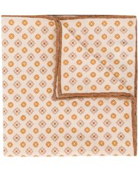 Eleventy Floral-print Pocket Square - Multicolour