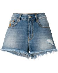 Vivienne Westwood Anglomania - Frayed Denim Shorts - Lyst