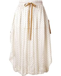 Lee Mathews Drawstring Dotted Skirt - White
