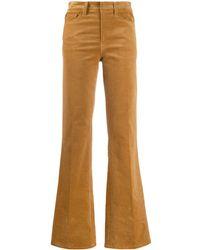 Zadig & Voltaire Pantalon évasé à taille haute - Multicolore
