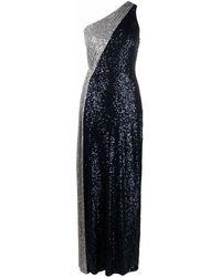 Lauren by Ralph Lauren スパンコール イブニングドレス - ブルー