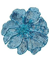 Racil Sequin Flower Brooch - Blue