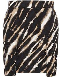 House of Holland Tie-dye Mini Skirt - Black
