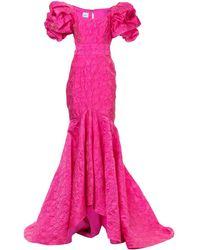 Bambah Mermaid Ruffled Gown - Pink