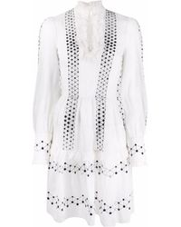 Temperley London Robin Long-sleeve Mini Dress - White