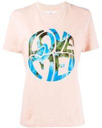 Alberta Ferretti Love Me! Tシャツ - マルチカラー