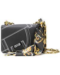 Versace Jeans ハンカチーフディテール ハンドバッグ - ブラック