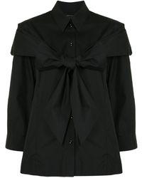 Simone Rocha オーバーサイズ シャツ - ブラック
