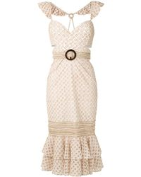 PATBO ベルテッド ドレス - ホワイト