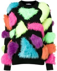 Jeremy Scott - Fuzzy Panelled Sweater - Lyst