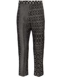 Haider Ackermann Jacquard Patterned Trousers - Black