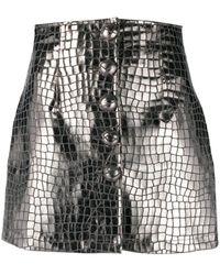 ANDAMANE Erin ボタン ミニスカート - グレー