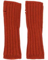 Holland & Holland カシミア フィンガーレス手袋 - レッド