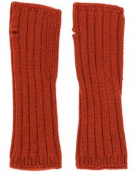 Holland & Holland Cashmere Knited Mittens - Red