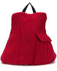 Eastpak Mochila East Pak x Raf Simons Ricceri estilo abrigo - Rojo