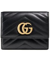 Gucci GG Marmont Matelassé Wallet - Black