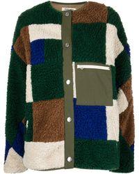 Sandy Liang Veste polaire Quilt à design patchwork - Vert