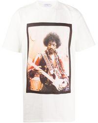 ih nom uh nit Jimi Hendrix Tシャツ - ホワイト