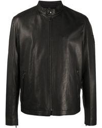 Belstaff Zipped Leather Jacket - Black