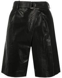 Helmut Lang Leather Wrap Shorts - Black