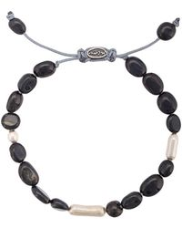 M. Cohen Adjustable Bead Bracelet - Blauw
